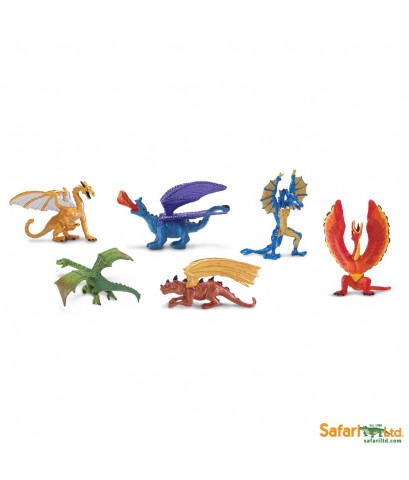 Safari Ltd. : SFR685604* โมเดลมังกรแบบแพ็คหลอดชุด 1 Lair of the Dragons Collection 1