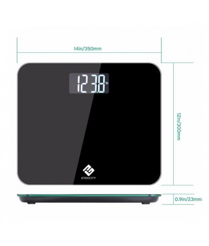 Etekcity : ETCHBHWFE03E* เครื่องชั่งน้ำหนักตัว 4.3 Inch Ultra Wide Platfrom Digital Body Weight Scal