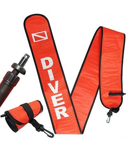 Scuba Choice : SBCSCSM-06A* อุปกรณ์บอกตำแหน่งจุดดำน้ำ Scuba Diving 6\' Surface Marker Signal
