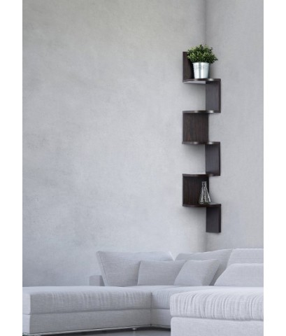 Saganizer : SGN802024* ชั้นวางของ corner shelf brown corner shelf