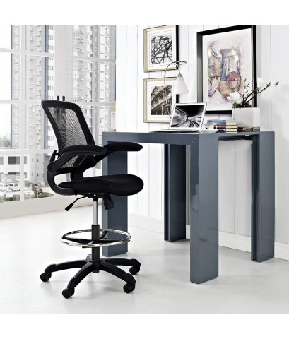 Modway : MDWEEI-1423-BLK* เก้าอี้ Veer Drafting Stool-Chair