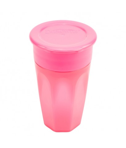 Dr.Brown\'s : DRBTC01039 ถ้วยหัดดื่ม Cheers 360 Cup , 10oz. Pink