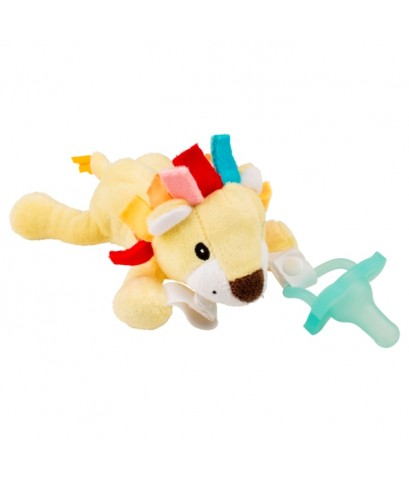 Dr.Brown\'s : DRBAC121 จุกหลอก Lonny the Lion Lovey w/Aqua One-Piece Pacifier