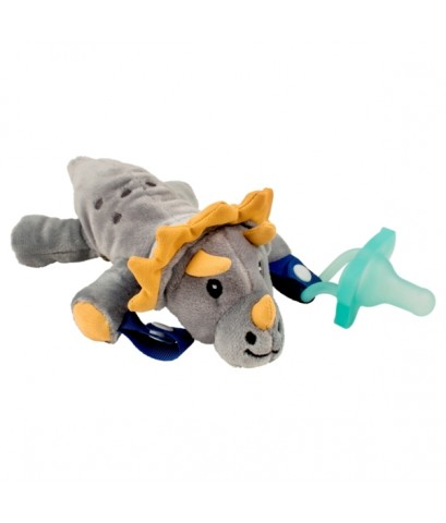 Dr.Brown\'s : DRBAC122 จุกหลอก Teddy the Triceratops Lovey w/Orange One-Piece Pacifier