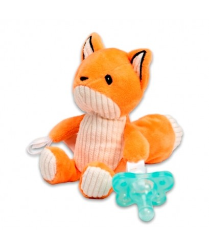 Dr.Brown\'s : DRBAC123 จุกหลอก Franny the Fox Lovey w/Aqua One-Piece Pacifier