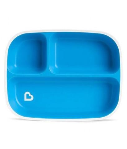 Munchkin : MNK21174 จานใส่อาหาร Splash Divided Plate Blue