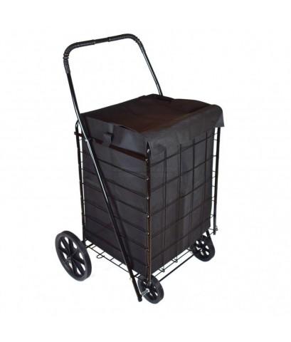 WellMax : WMXWM99008* รถเข็นใส่ของ Extra Large Folding Shopping Cart