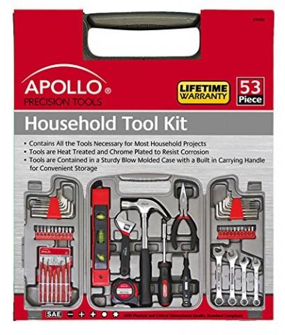 Apollo : APLDT9408* ชุดเครื่องมือช่าง Tools 53 Piece Household Tool Set