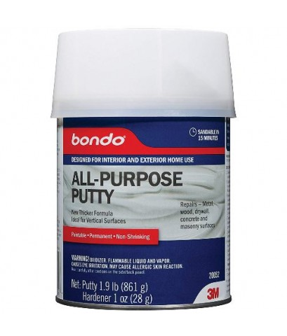 3M : 3M20052* ผลิตภัณฑ์สำหรับอุดรอยแตกร้าว Bondo Home Solutions All Purpose Putty