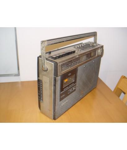 วิทยุโบราณแบบหูหิ้ว SONY CF-490s ใช้งานได้เฉพาะวิทยุ FM ฟังชัดเจน