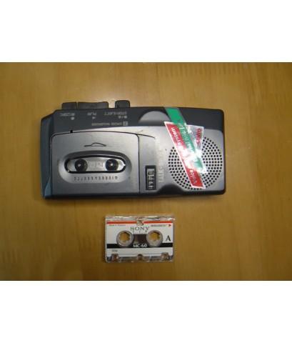 Sanyo Micro Cassette Tape TRC-770M ใช้งานได้ปกติ อัดได้เล่นได้ กรอเทปได้ เสียงดี มีลำโพงในตัว