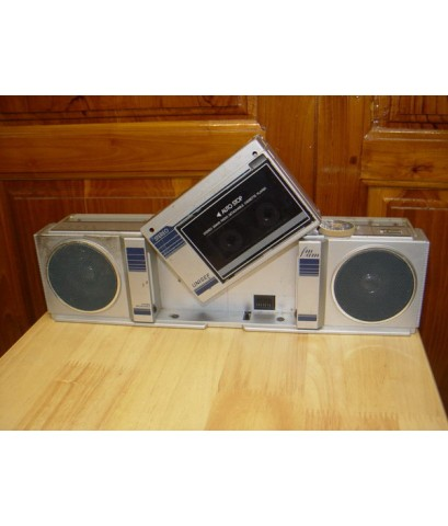 วิทยุ-เทป Stereo Unisef Detachable แยกระบบชุดเทปออกมาฟังได้เหมือนซาวอเบ้า ใช้งานได้ปกติ