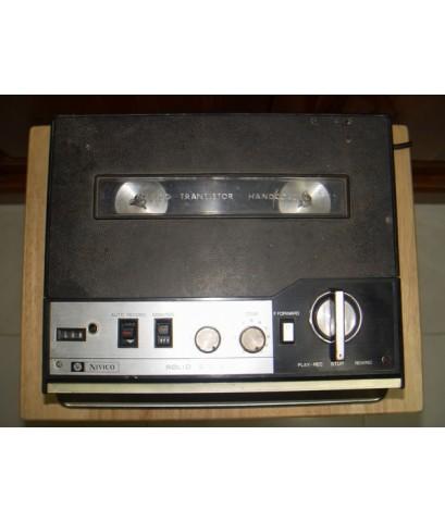 เทปรีล JVC NIVICO 545U ใช้งานได้เทปหมุนปกติแต่เสียงเบา ต่อเข้าแอมป์นอกดังดีปกติ ตามสภาพ