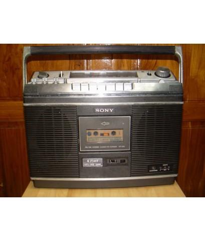 วิทยุ-เทป SONY CF-580 4 ลำโพง Super wide sound ใช้งานได้ปกติ