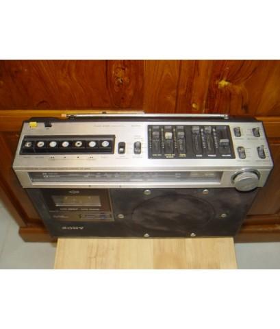 วิทยุเทปโบราณ SONY CF-490S ใช้งานได้ปกติทุกฟังชั่น เสียงดีมาก