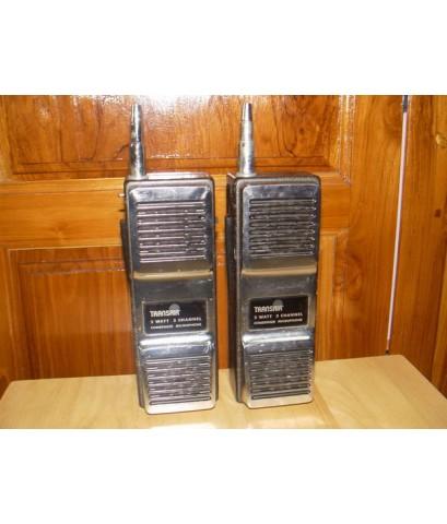 วอโบราณ TRANSAIR 2W 3CH Walkie-Talkie 27Mhz.