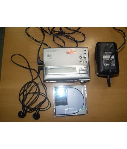 Sharp MD Mini Disk MD-MS100 ใช้งานได้ปกติ