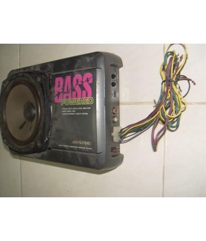 กล่อง Bassbox Alpine SBS-1395 Japan ใช้งานได้ปกติ เสียงเบสออกดี