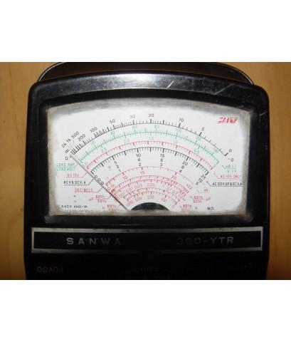 Meter SANWA 360-YTR โบราณ ญี่ปุ่นแท้ วัดโอห์มได้อย่างเดียว
