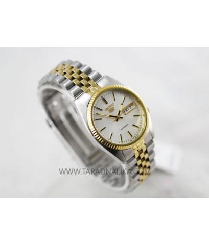 นาฬิกา SEIKO 5 AUTOMATIC สองกษัตริย์ ขอบหยัก SNXJ90K1
