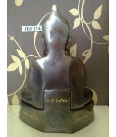 พระบูชาหลวงพ่อโต วัดอาษาสงคราม เนื้อทองเหลืองรมดำ หน้าตัก 9นิ้ว ปี43 พระประแดง สมุทรปราการ