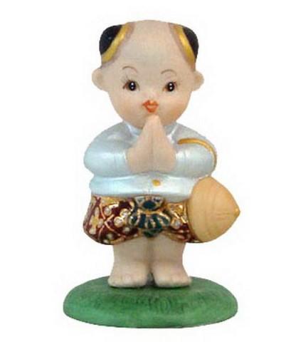 ตุ๊กตาเด็กไทย ยืนสวัสดี (ชาย)