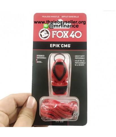 นกหวีด FOX 40 EPIK CMG+Lanyard สีแดงดำ รุ่นใหม่ ของแท้