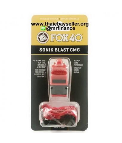 นกหวีด FOX 40 Sonik Blast CMG 120dB สีแดงดำ ของใหม่ ของแท้