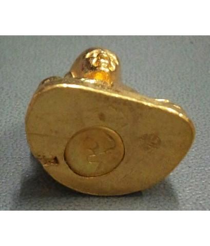 รูปหล่อหลวงพ่อเงิน วัดบางคลาน อุดกริ่ง  รุ่น ภปร พร้อมโค็ต อุ เนื้อทองคำ หนัก 20.2 กรัม หน้ายิ้ม หูย