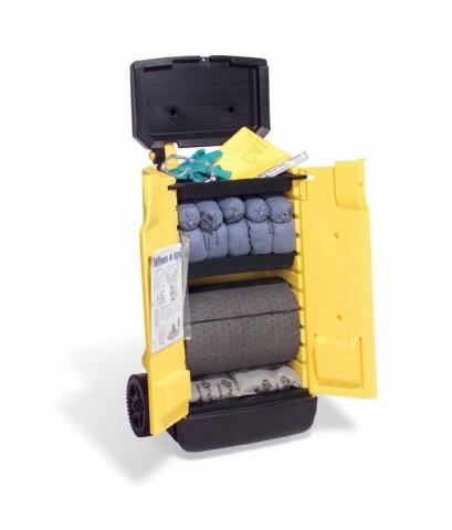 ชุดดูดซับสารเคมีฉุกเฉินแบบรถเข็นพร้อมอุปกรณ์ สามารถดูดซับได้ถึง 57 ลิตร รุ่น KIT244 ยี่ห้อ PIG