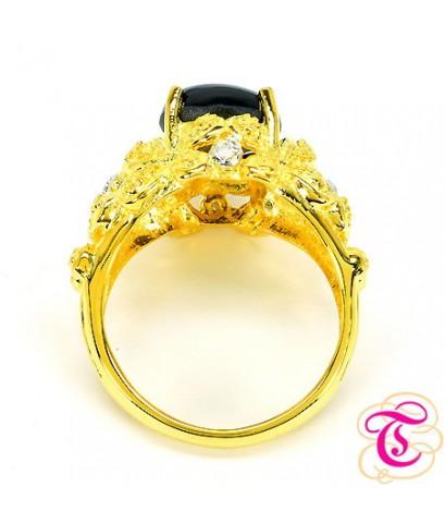 แหวนทองคำแท้ 90 ประดับพลอยสตาร์ 4.30 กะรัต พร้อมเพชรแท้เบลเยียม 0.04 กะรัต สินค้ามีใบรับประกันจากทาง