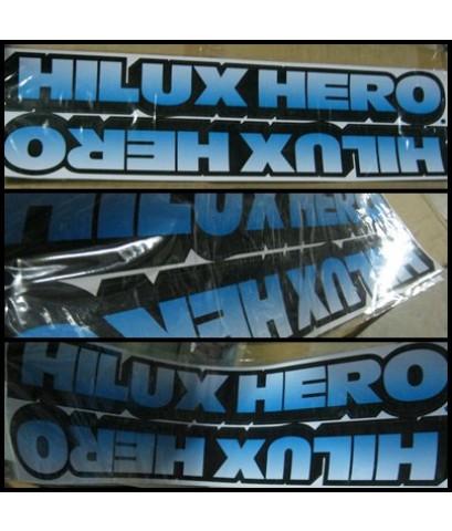 สติ๊กเกอร์แต่งรถ (STICKER) TOYOTA - Hilux HERO ติดแผงข้าง สีฟ้า