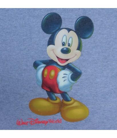 เสื้อยืดมือสองผ้าเนื้อทราย MICKEY MOUSE Walt Disney vintage t-shirt Youth Sz. XL (SOLD)