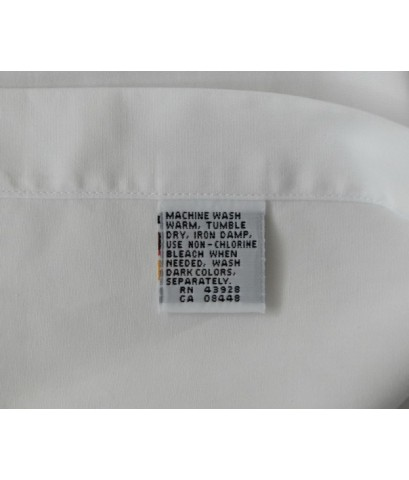 เสื้อทำงาน LIBERTY OF LONDON Men Dress Shirt Used Designer White 16 1/2 - 35