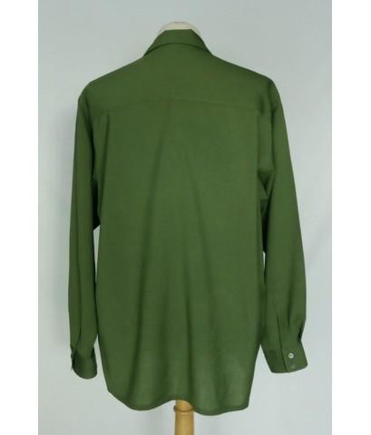 เสื้อแบรนด์เนม Yohji Yamamoto Wool Men Used Designer Shirt Green XL