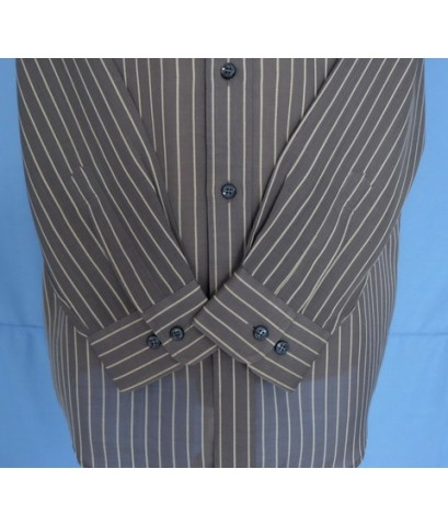 เสื้อเชิ้ต DAKS Men Used Designer Shirt Stripes 100