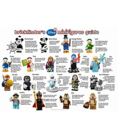 LEGO MINI FIGURE SERIES : DISNEY/PIXAR SERIES 2 ครบชุด 18 แบบ รุ่นใหม่ล่าสุด 2019 [2]