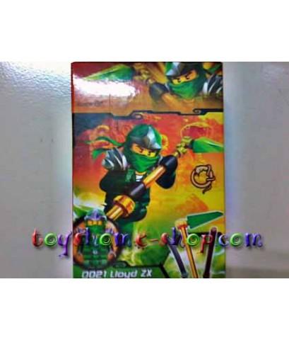 เลโก้จีน ชุดเลโก้นินจาโก 0021 นินจาโกตัวสีเขียว Lioyd ZX (กล่อง)