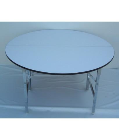 โต๊ะขาพับ โต๊ะพับ Conference table โครงขาเหล็ก ชุบโครเมียม แบบกลม หนา 19มิล