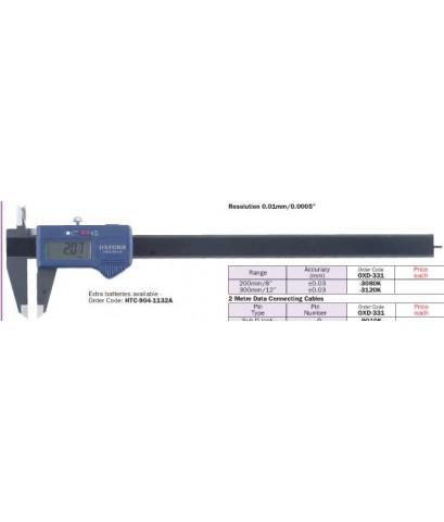 เวอร์เนียร์ดิจิตอล(Standard digital caliper with data output-200mm/8\quot;)/OXD-331