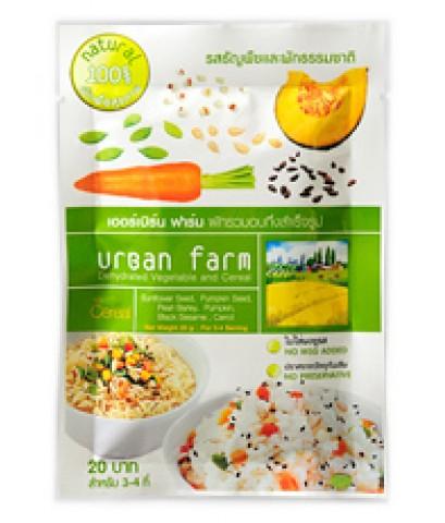 เออร์เบิร์นฟาร์ม ผักอบแห้ง สูตรซีเรียล (Cereal) แพค 6 ซอง