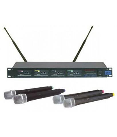 ชุดไมโครโฟนไร้สาย ENBAO EU-4700 (ไมค์ลอยแบบถือ 4 ตัว)