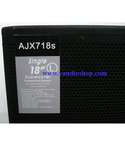 ตู้ลำโพงซับวูฟเฟอร์ 18 นิ้ว AJ AUDIO รุ่น AJX-718S