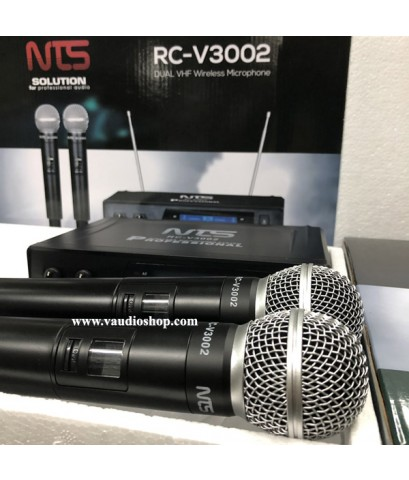Wireless Microphone NTS RC-V3002 ถือคู่ VHF