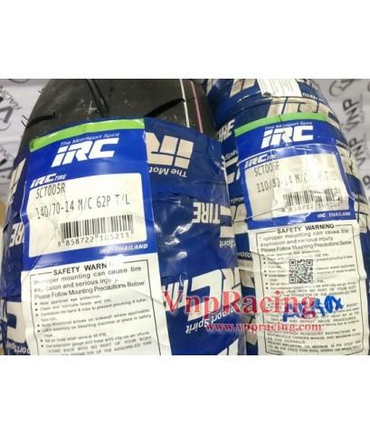 ยางนอกไออาร์ซี  ขอบ 14 นิ้ว IRC sct-005 110/80-14 140/70-14 สำหรับ AEROX