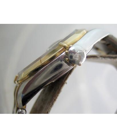 eberhard auto aquadate diamond for man, lady size 35mm หน้าปัดบรอนซ์เงินสไลด์เงาประดับหลักเวลาเพชรสว