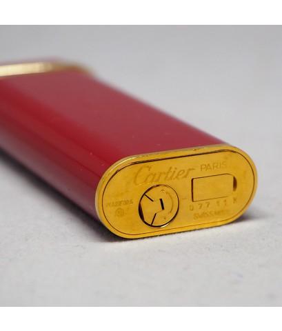 ไฟแช็ก CARTIER Trinity gold original 1990-1999 ระบบเติมแก๊ส ใช้ได้ทั้งชายและหญิง  ตัวเรือนแลคเกอร์แด