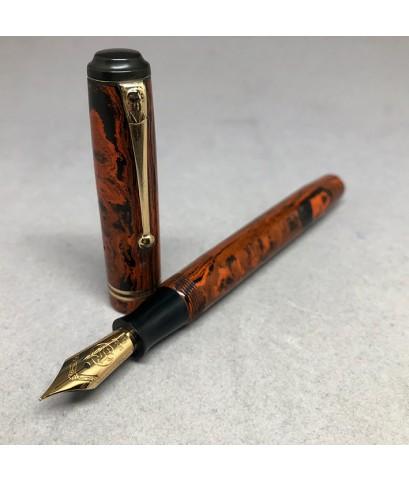 ปากกาหมึกซืมวินเทจ MACNIVEN  CAMERON LTD ปลากปากทอง 14K 585 ตัวด้าม Hard Rubber ระบบสำลองหมึกลูกยาง