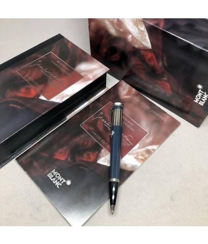 ปากกาหมึกแห้ง MONTBLANC ปี 2001 Limited 04994 / 16000 CHARLES DICKENS ตัวด้ามอครีลิคเขียว หัวบิดดำ พ