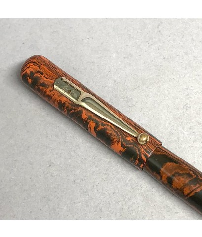 ปากกาหมึกซืมวินเทจ MABIE 1915 ตัวด้าม Hard Rubber ระบบสำลองหมึกลูกยางใช้เหน็บทองสปริงโช็คหมึก สภาพสว